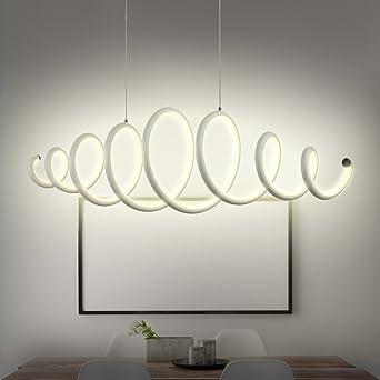 N3 Lighting Moderne Design LED Pendelleuchte Esszimmer, Pendellampe,  Hängelampe, Esstischleuchte, Dimmbar, Höhenverstellbar, Warmweiß, 56W, 88 X  22.3 X 140 ...