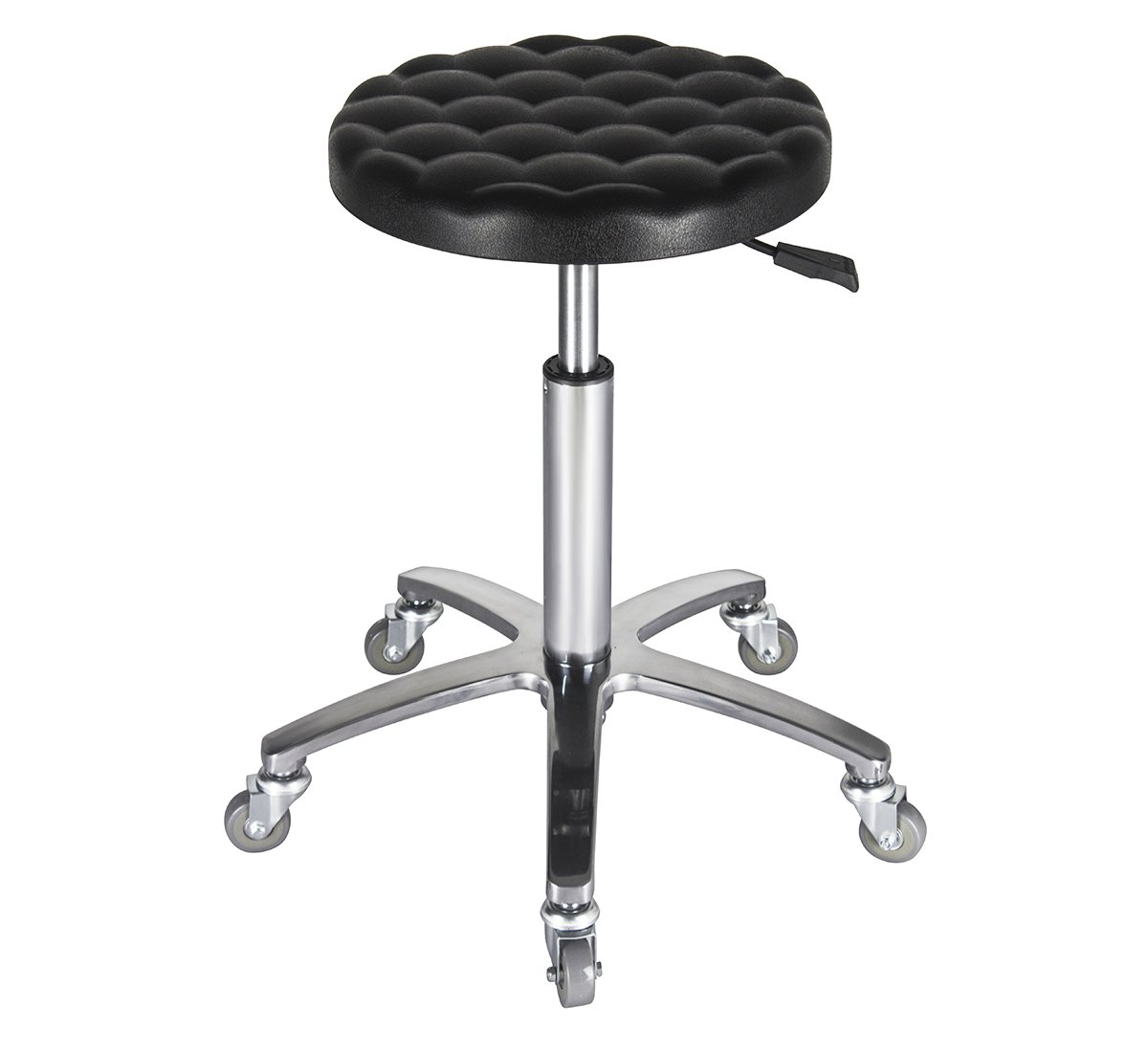 Lab Stool Swivel Chairs for Class Laboratory Massage Spa Salon with Wheels and Metal Plated Frame,Adjustable Rolling Hydraulic (Black)