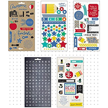 Me & My Big Ideas Pocket Pages Foil Stickers 6 Sheets/Pkg -I