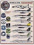 FUR48040 1:48 Furball Aero Design F-18A F-18C F-18E F-18F Super Hornet Air Wing All-Stars - 2014 NAS Oceana Airshow Review [WATERSLIDE DECAL SHEET]