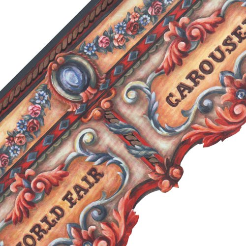- Imperial World Fair Carousel Prepasted Wall Border Roll