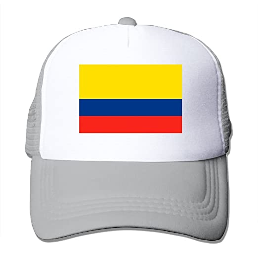 c477ab4e51b SHINENGST Colombia Flag Mesh Trucker Caps Hats Adjustable For Unisex Ash