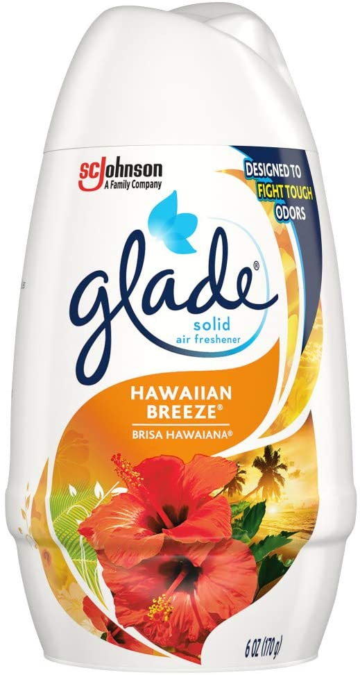 Glade Solid Air Freshener, Deodorizer for Home and Bathroom, Hawaiian Breeze, 6 Oz, Pack of 12