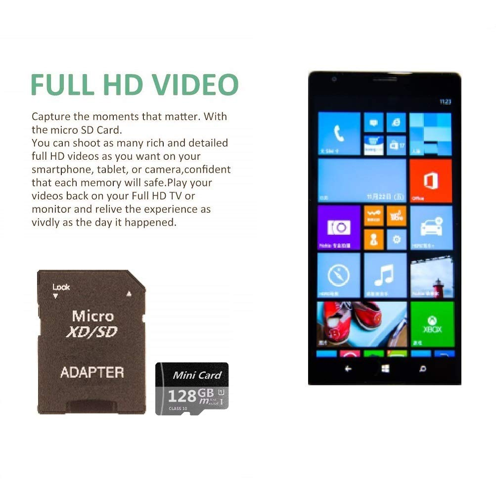 Amazon.com: AERGUAE - Tarjeta de memoria micro SDXC (128 GB ...