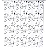 Funny Cats Shower Curtain: Large Waterproof Luxurious Bathroom Design Woven Fabric