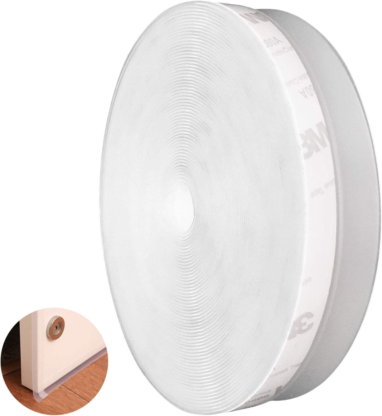 CUKCIC Tira de Sellado Autoadhesiva Silicona Burlete Cinta Calafateo para Puertas Ventanas Insonorizado 2×25mm×5m Transparente
