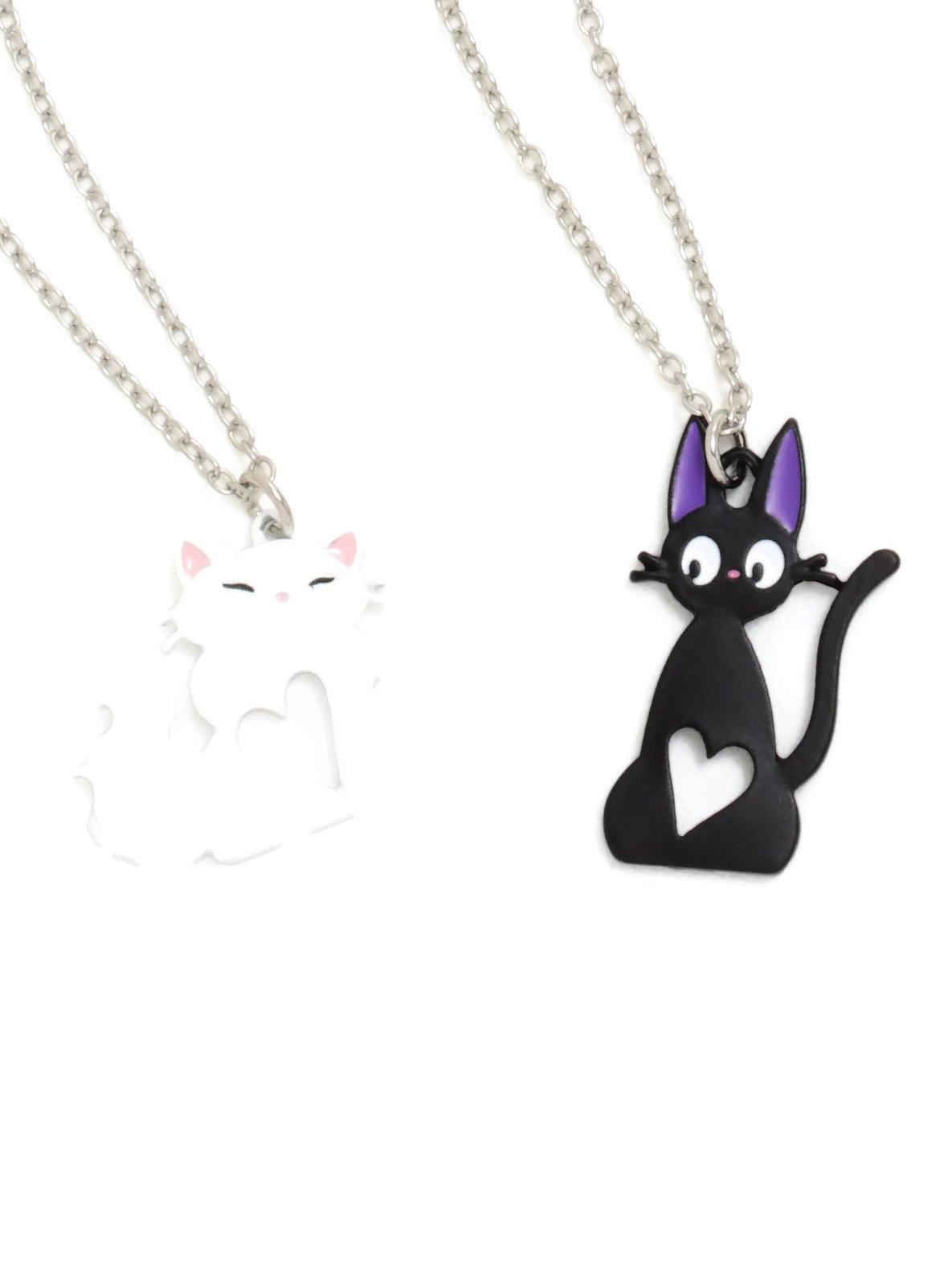 Studio Ghibli Kiki's Delivery Service Jiji & Lily Best Friend Necklace Set