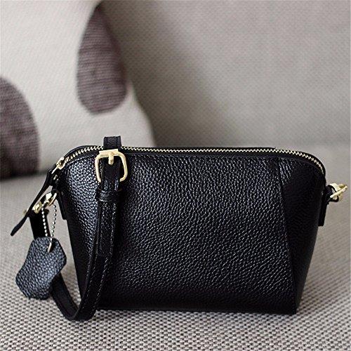 Las mujeres solo bolso lady Bag Mini Bolsa de cuero simple cruz oblicua moda mochila de ocio, 17*8*13cm, vino rojo Negro