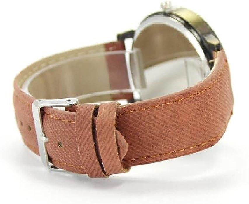 2016 World Map Watch Watches Women Men Denim Fabric Watch Quartz Relojes Mujer Relogio Feminino Gift Brown