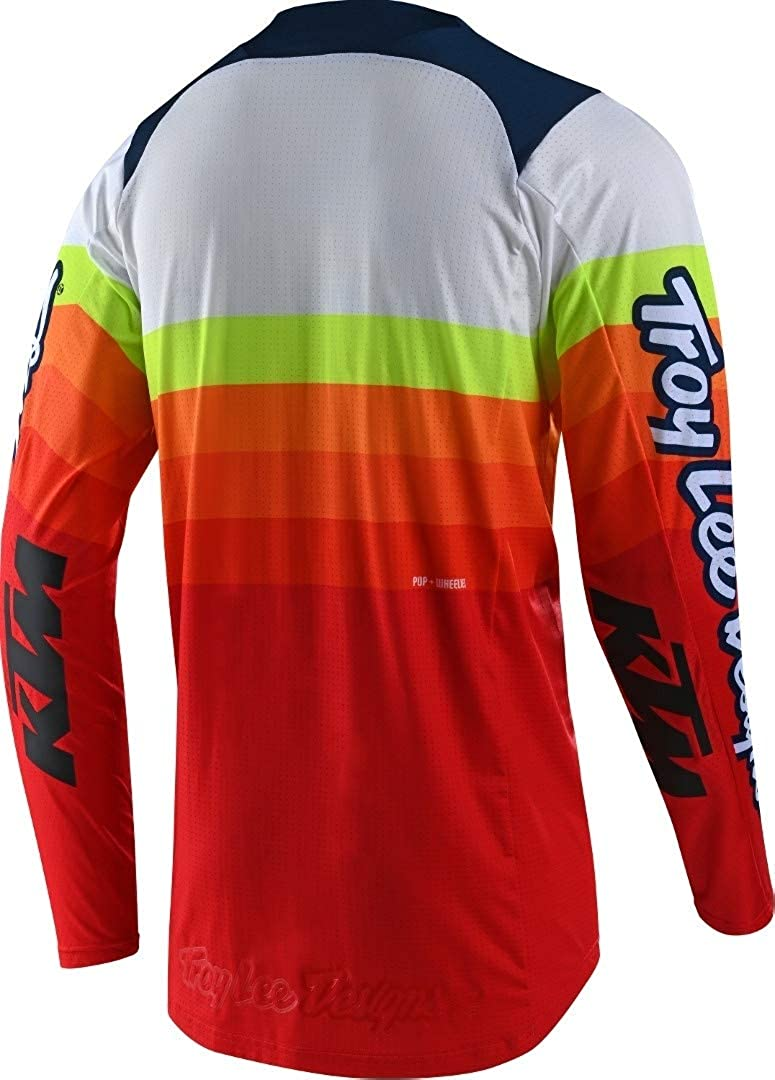 Troy Lee Designs Mens Offroad Motocross SE PRO KTM Mirage Jersey Small, White//Red