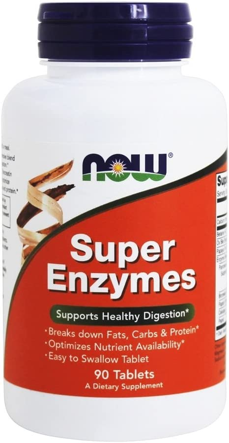 Now Foods Super Enzymes, 90 Tabs