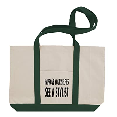 Improve Your Selfies See A Stylist Cotton Canvas Boat Tote Bag Tote