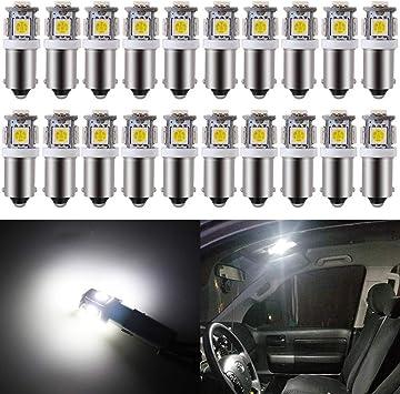 Car 5-LED 5050 SMD Side Corner Reverse Parking Light Tail Lamp Bulb BA9S Bayonet