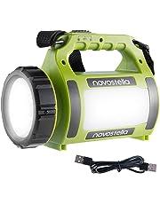 Novostella Torcia Lanterna LED 3 in 1, Lampada Ricaricabile USB Impermeabile Luce LED Portatile, 2000mAh CREE LED da Campeggio, Pesca, Trekking, Emergenze Escursioni