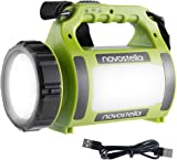NOVOSTELLA Ustellar Rechargeable CREE LED Torch, Multi-functional Camping Light, Waterproof LED Spotlight Searchlight, High Power Beam Flashlight, Lightweight Lantern, 650lm, 2000mAh Battery