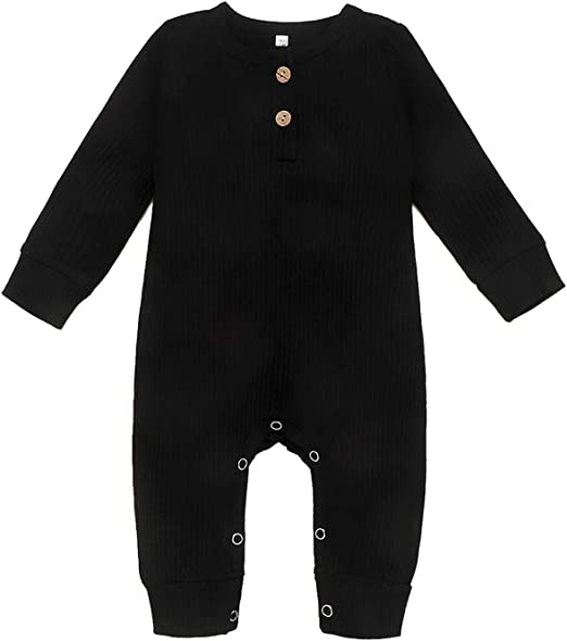 Baby Infant Toddler Long Sleeve Climb Romper Bass Guitar Unisex Button Playsuit Outfit Clothes