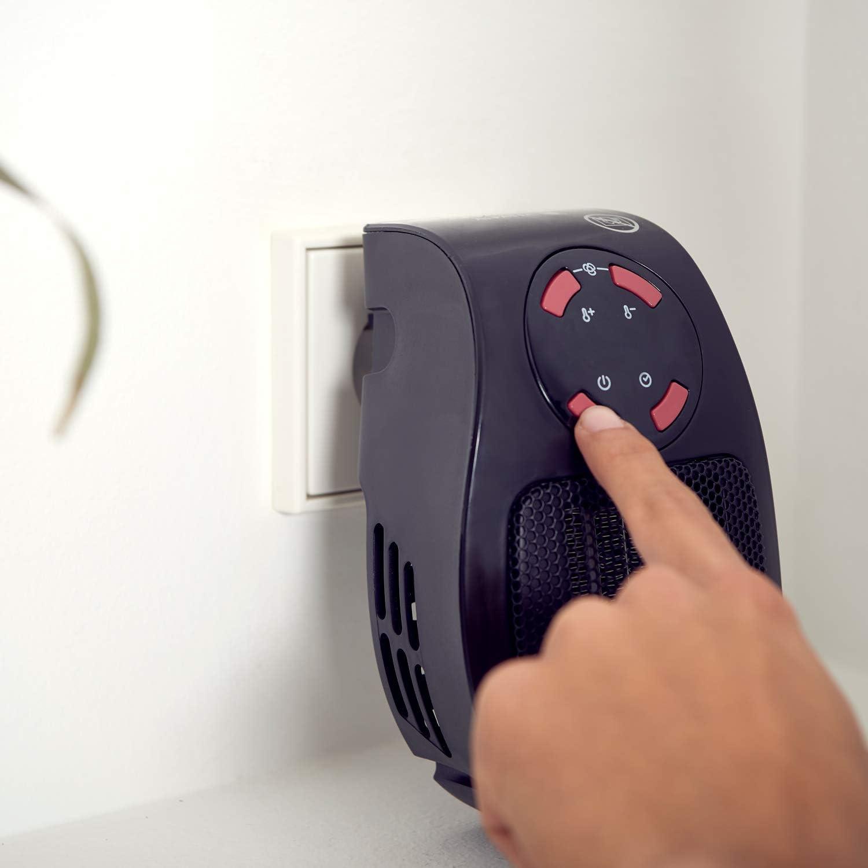 500W Noir Compact /à Brancher sur Une Prise TAURUS 947428000 Alpatec Chauffage Soufflant Tropicano Plug Heater 500 W