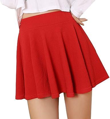 Faldas para Mujer Mini Falda Plisada de Cintura Alta Faldas de ...