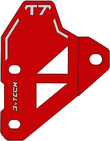 Protezione fianchetto destro in alluminio anodizzato rosso per T/èn/èr/è 700 MyTech