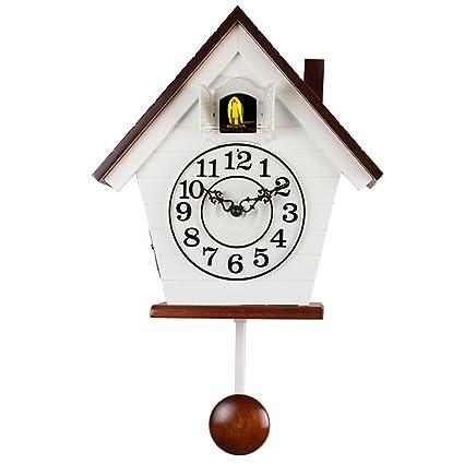 Estilo moderno diseño minimalista reloj de pared reloj de cuco arrullo reloj relojes creativos reloj(