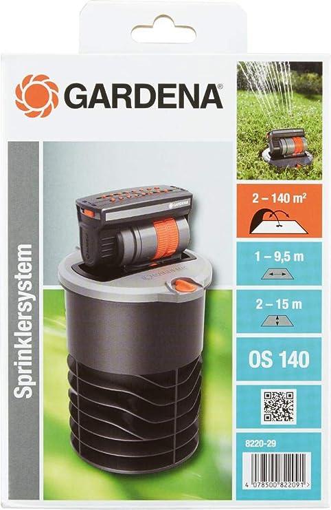 GARDENA Sprinklersystem Versenk-Viereckregner für Bewässerungssystem bis 140 qm