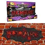 Halloween Prop Spooky BEWARE Door Bell Chime Trick Or Treat Decoration Party