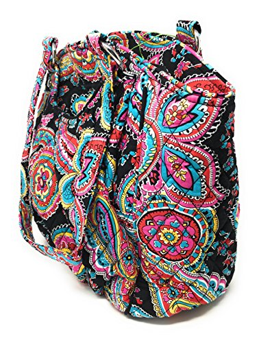 Solid Glenna Bradley Paisley Signature Lining Cotton Bag Shoulder Black Parisian Vera With f6wzz