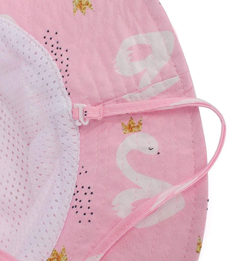 LACOFIA Cappello da Sole per Bambini Cappellino Estivo da 50 UPF Protezione Solare Neonato Berretto da Spiaggia a Tesa Larga con Cinturino sottogola Regolabile
