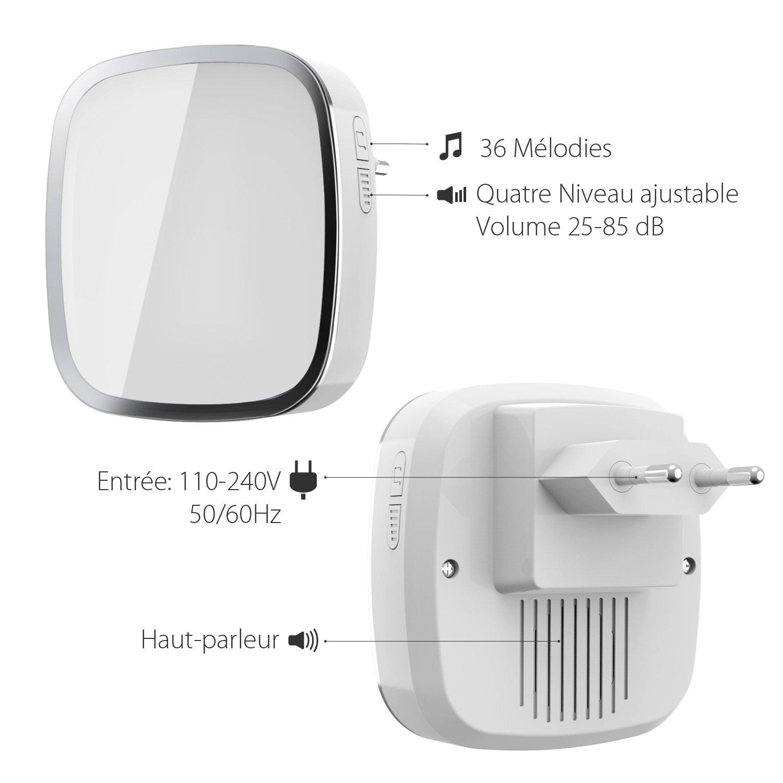 Confortable sonnette sans fil exterieur renaa conception for Sonnette exterieur