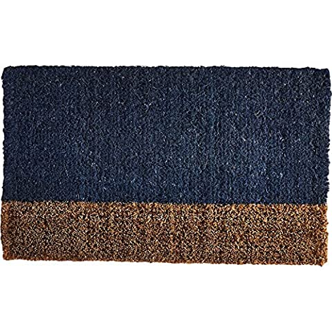 TAG - Two-Tone Coir Mat, Decorative All-Season Mat for the Front Porch, Patio or Entryway, Blue - Color Door Mat