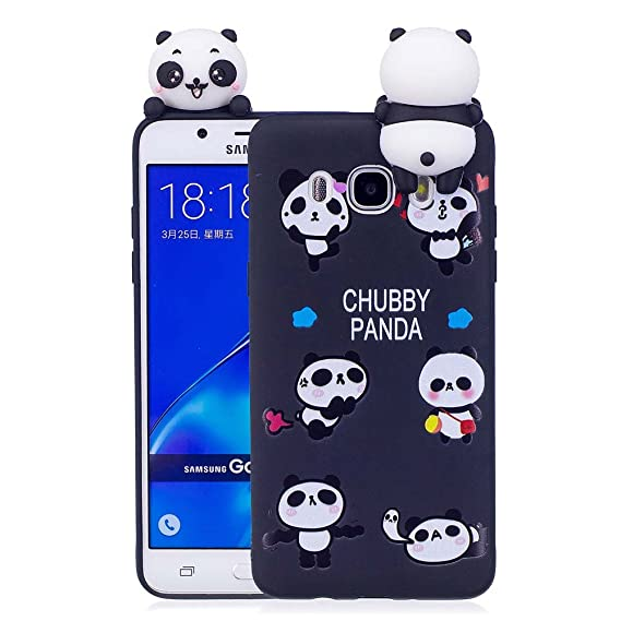 brand new 2aa55 402d9 Amazon.com: Aeeque J5 6 Case, Galaxy J5 2016 Case [Panda Black] Slim ...