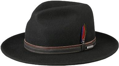 Stetson Sombrero de Fieltro Terrick Traveller Hombre Lana Lluvia con Banda Piel oto/ño//Invierno