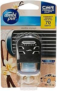 Ambi Pur Premium Clip Car Air Freshener Vanilla Voyage 7.5mL