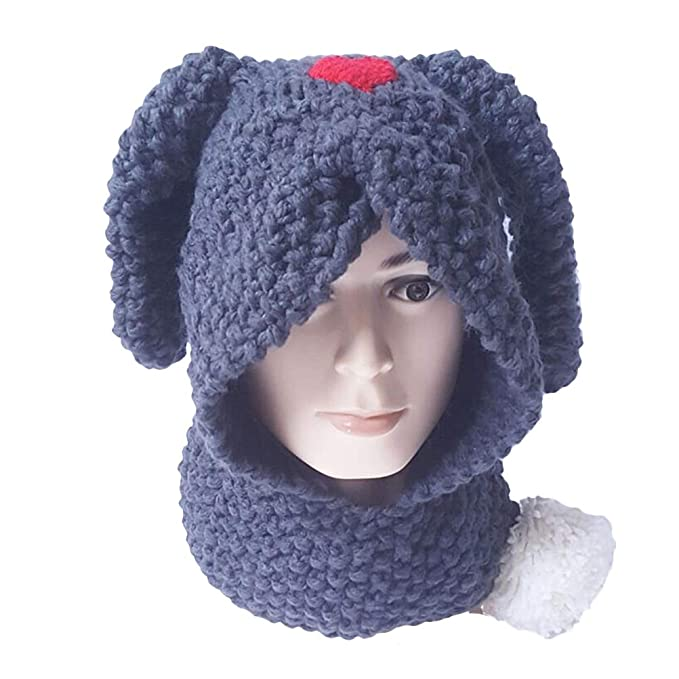 FENICAL Sombrero de Conejo de Invierno con Bufanda de Punto cálido Gorras  de Abrigo de Lana Hecho Punto Bufandas para niños niños  Amazon.es  Ropa y  ... 08c137e447d