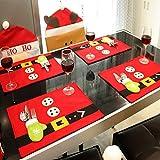 Lonngzhuan Vivid Christmas Charming Stockings Placemats Xmas Decor Tableware Mat Party Ornaments
