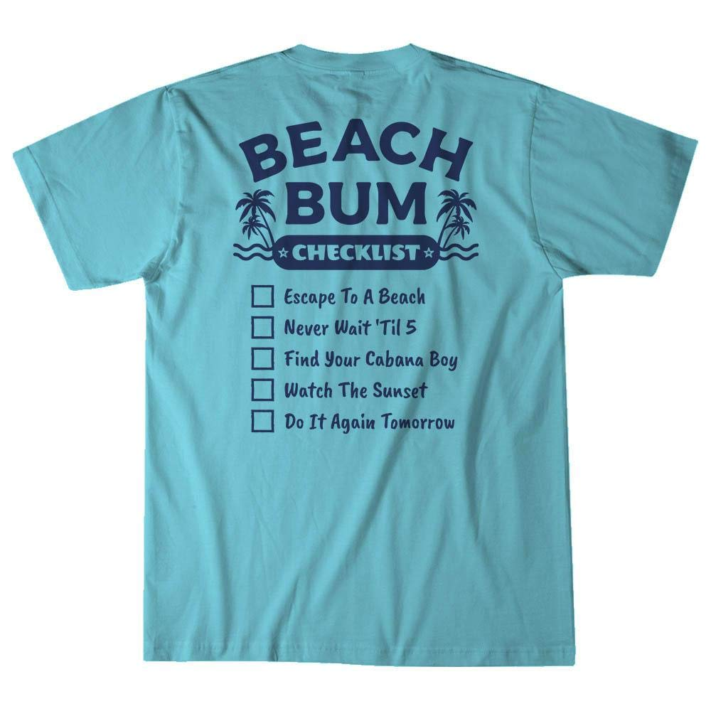 Island Jay Beach Bum Checklist T-Shirt
