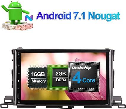 Unidad de radio para salpicadero de coche con Bluetooth GPS y reproductor multimedia de navegación para Toyota Highlander XU50 serie 2014: Amazon.es: Electrónica