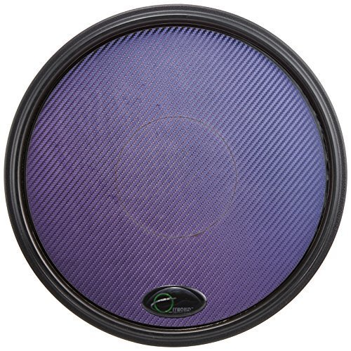 Offworld Percussion Invader V3 Practice Pad with Black Rim and Blue Chameleon Laminate Surface