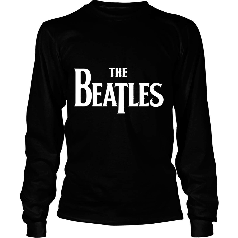 Camisetas de Manga Larga Camisa de la Banda de Rock Inglesa The Beatles Band Shirt M, Negro