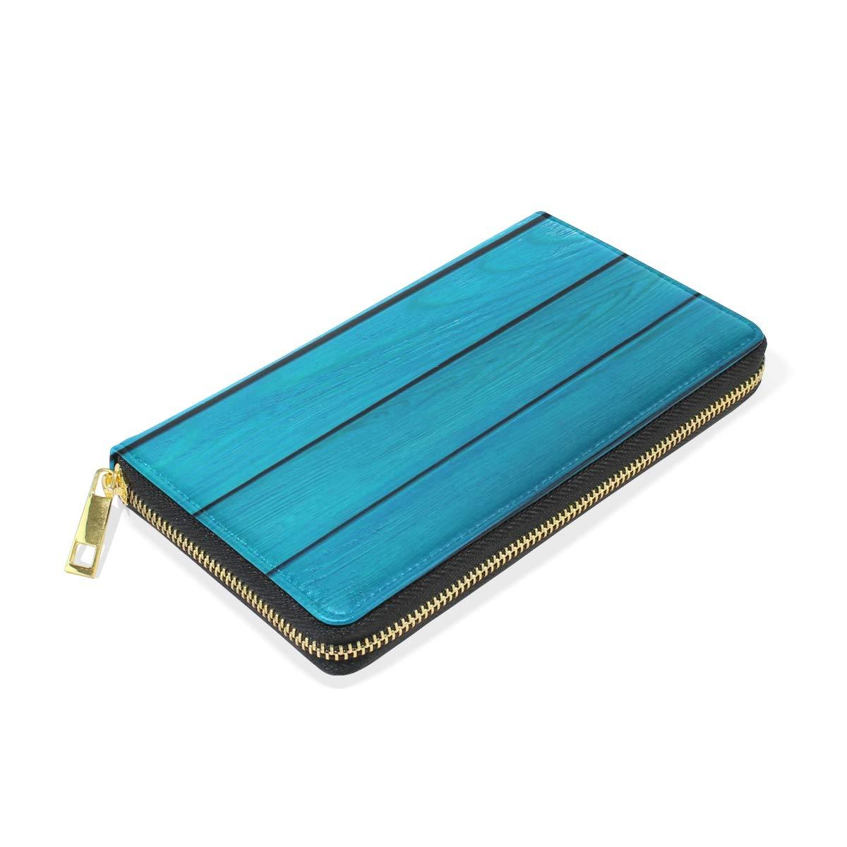 Blue Women Wallet Female Coin Purse Phone Clutch Pouch Girl Cash Bag Leather Card Change Holder Organizer Storage Key Hold Elegant Handbag For Party Birthday Gift