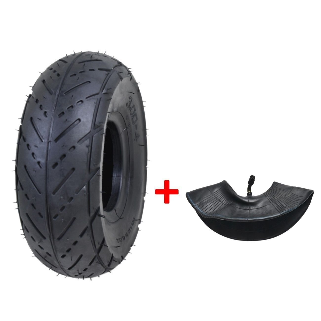 3.00-4/260 x 85 Tires+Tube for Electric Scooter Go kart Mini Pocket Bike (Street Tread)