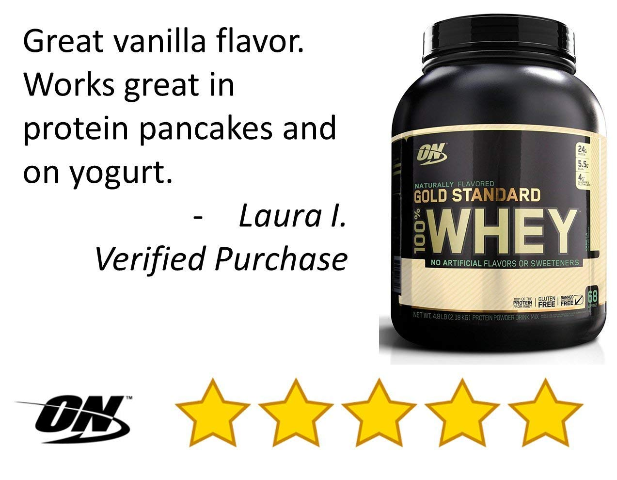 OPTIMUM NUTRITION GOLD STANDARD 100% Whey Protein Powder, Naturally Flavored, 4.8 Pound by Optimum Nutrition (Image #8)