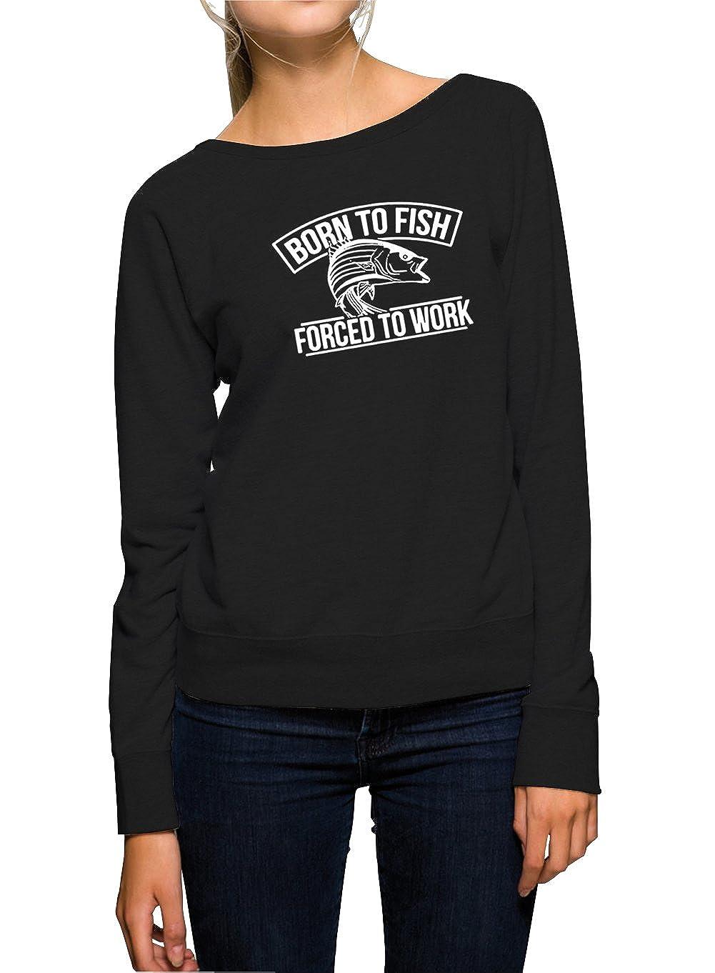 Certified Freak Born To Fish Sweater Girls Black