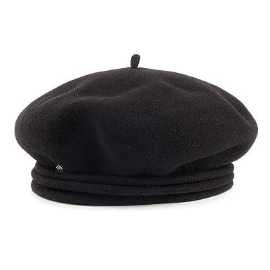 Laulhère Hats Chopin Merino Wool Beret - Black 1-Size  Amazon.co.uk ... 22e3df2fac0