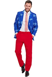 15b7a5361b6bb USA Flag Party Stag Do Suit Fancy Stand Out Dress Costume Festive Holiday  Season 2019