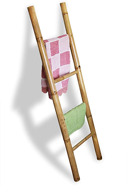 LioLiving®, Toallero/escalera de bambú decorativa (#400039): Amazon.es: Hogar