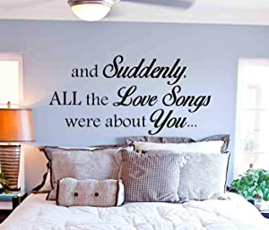 Best Design Amazing Love Songs Wall Decal-Master Bedroom Wall Decal Quote-Bedroom Home Decor-Vinyl Bedroom Wall Decal-Bedroom Wall Sticker-Bedroom Decor Made in USA!
