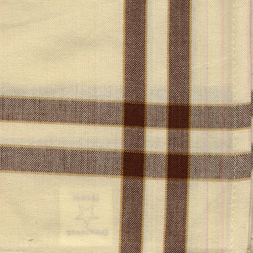 Dunroven House Cream Towel, 20 x 29-Inch, Brown and Pumpkin Stripe