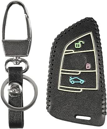 غطاء ريموت السيارة بى ام دبلو من الجلد لون اسود رقم الصنف 1409 - 1