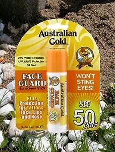 Australian Gold Spf#50 Face Guard Stick 0.6 Ounce (17ml)